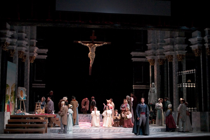 opera scene from Tosca